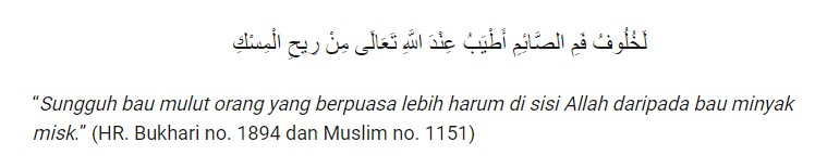 HR. Bukhari no.1894 dan Muslim no.1151